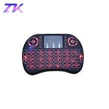 ZKMAGIC I8 2,4 ГГц мини беспроводная клавиатура с подсветкой Touchpad Мышь светодиодный подсветкой AAA * 2 Батарея для Smart ТВ Mini PC