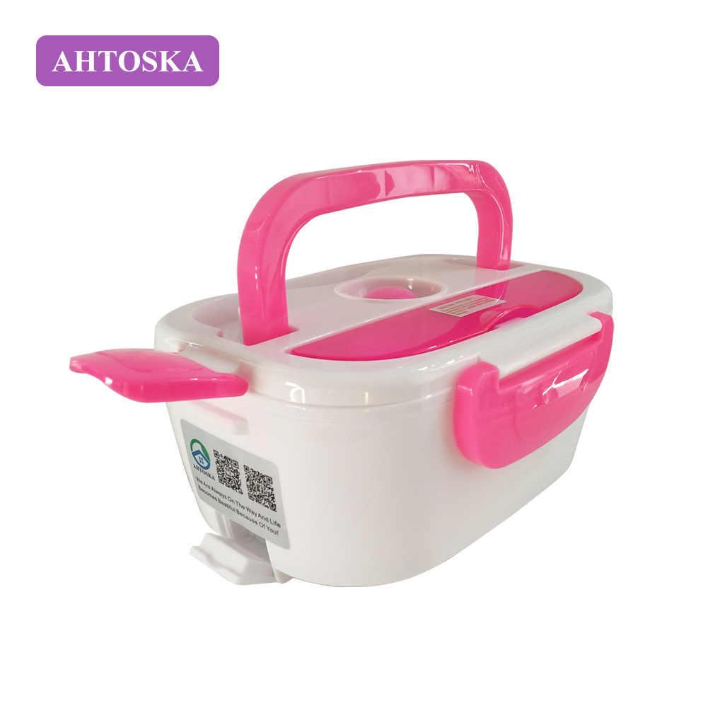 AHTOSKA 12V Portátil Caixa de Aquecimento Eléctrico Almoço Food-Grade de Alimentos Recipiente de Alimento Quente Para As Crianças 4 Fivelas Louça conjuntos de Carro