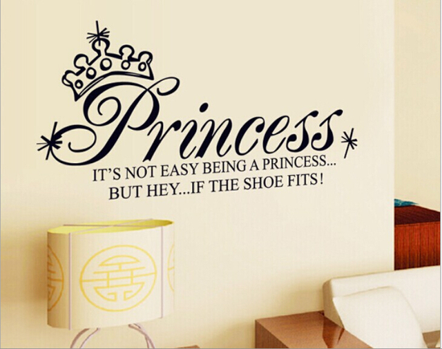 Princess Quote Lettering Saying Wall Stickers Decal Girls Teenager Nursery Room  Bedroom Decor Part 89