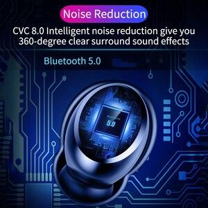 Image 5 - TWS Verdadeiro 8D do Fone de ouvido 5.0 Fones de Ouvido Bluetooth Estéreo Sem Fio Fones de Ouvido Controle de Toque À Prova D Água com LED Banco do Poder 4000 mAh