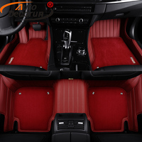 Custom Fit Car Floor Mats For Dodge Journey JCUV 3 Row Car Mat PVC Leather Interior