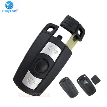 OkeyTech For BMW E61 E90 E82 E70 E71 E87 E88 E89 X5 X6 For 1 3 5 6 Series Remote Key Shell Replacement 3 Button Smart Car Key image