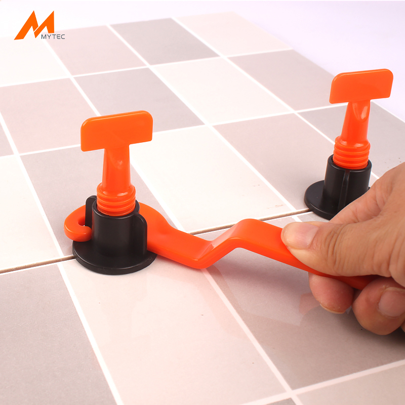 50pcs bag reusable tiling leveling system with 2 pack tile spacers