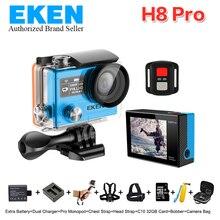 4 К Действий камеры EKEN H8PRO с Ambarella A12 Wi-Fi 2.0 «Двойной ЖК-Пульт дистанционного управления h8pro Шлем Cam go водонепроницаемая камера спорта