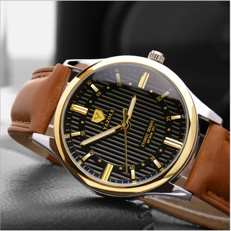 YAZOLE Fashion Watch men Top Brand Luxury Casual Male Clock Quartz-watch Business Rose Gold Black Reloj Hombre Relogio Masculino new watch men auto date business fashion quartz men watch top brand wristwatch male reloj hombre orologio uomo relogio masculino