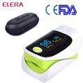 ELERA Health care Fingertip Pulse Oximeter Portable Oximeter a finger OLED oximetro de dedo CE pulsioximetro with case Free P&P