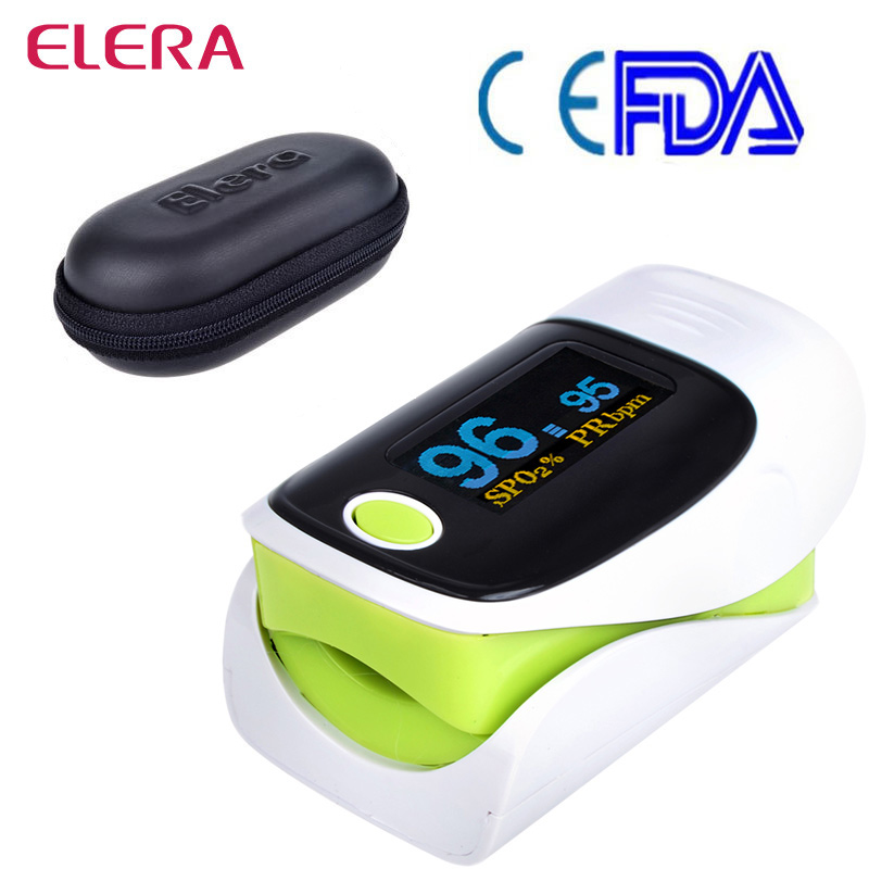 ELERA Health care Fingertip Pulse Oximeter Portable Oximeter a font b finger b font OLED oximetro