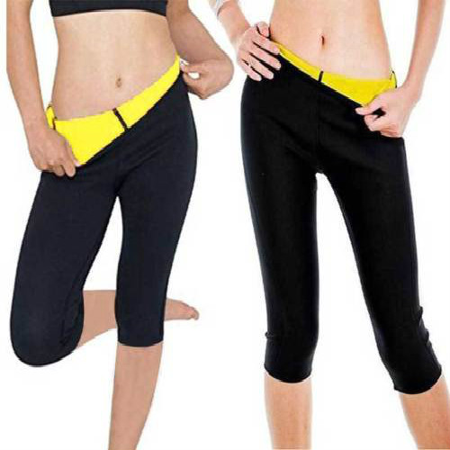 Fashion Women Hot Neoprene Slimming Pants Sweating Sauna Suit Waist Elastic New Solid Pants