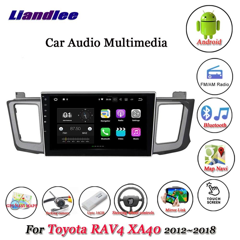 Liandlee Car Android System For Toyota RAV4 XA40 2012~2018 Stereo Radio Video GPS Map Navi Navigation Multimedia No DVD Player liandlee car multimedia player navi for mini hatch r56 2006 2013 original car style with dvd car radio stereo gps map navigation