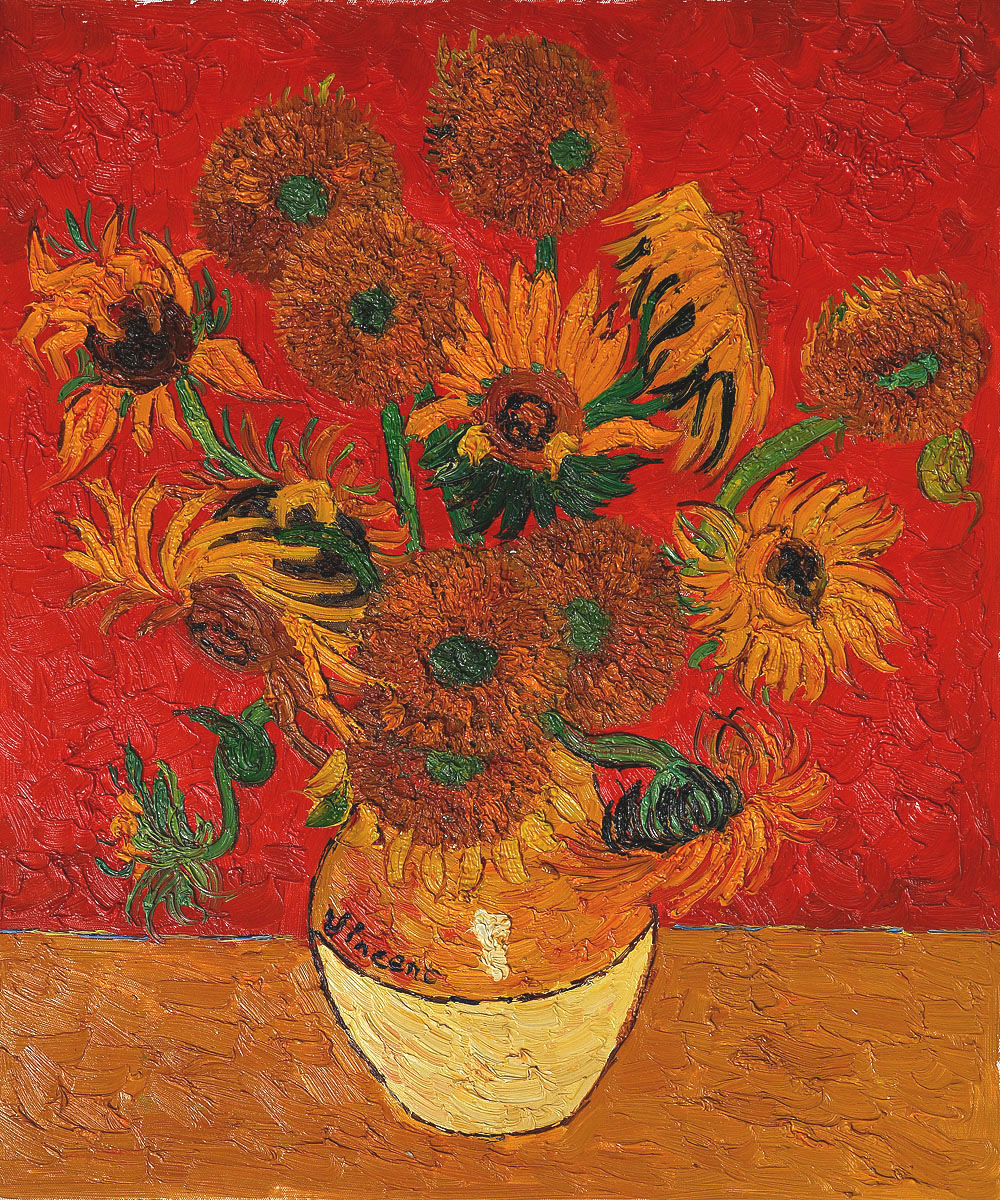 Art of vincent van gogh sunflower series hand painted oil painting art of vincent van gogh sunflower series hand painted oil painting reproduction irises in vase for living room bedroom wall deco in painting calligraphy reviewsmspy