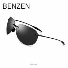 42f08312c BENZEN Ultraleve TR 90 Sem Aro Óculos De Sol Dos Homens Do Vintage de Alta  Qualidade Óculos de Sol Masculino óculos de sol UVA/.