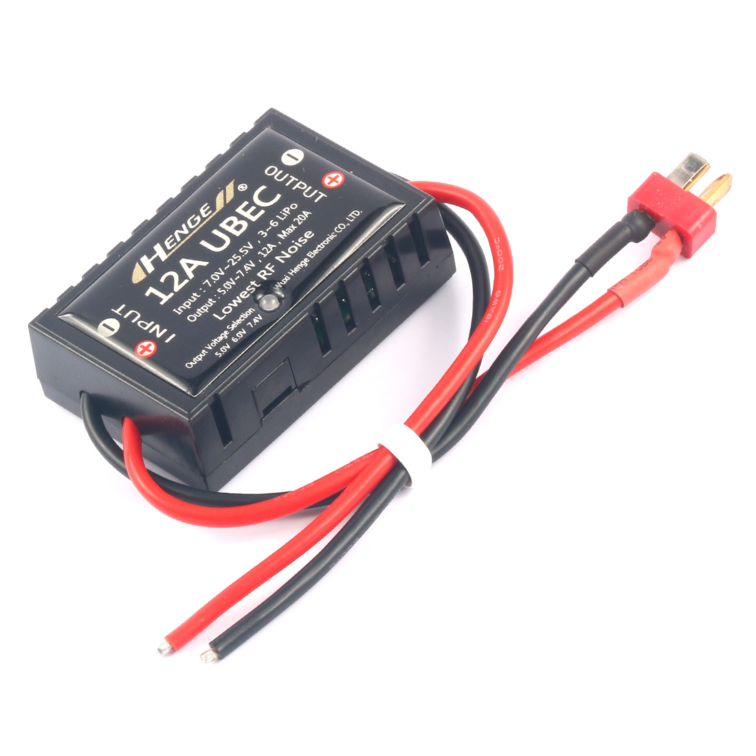 JMT 12A UBEC Switch Mode BEC Voltage Stabilizer Output 5V /6V / 7.4V 12A Max 20A Input 3S-6S Lipo 7V-25.5V for RC Drone Aircraft nylon pa66 12a door interlock switch black 5v 50 piece pack