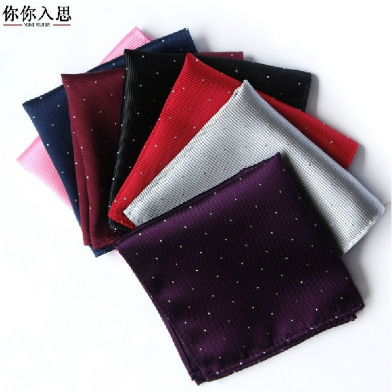 Solid Color Vintage Fashion Party High Quality Men's Handkerchief Groomsmen Men Pocket Square Hanky