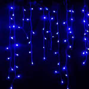 Image 2 - String lights Christmas outdoor decoration Drop 5m Droop 0.3m/ 0.4m/0.5m curtain icicle string led lights Garden Party 220V 110V