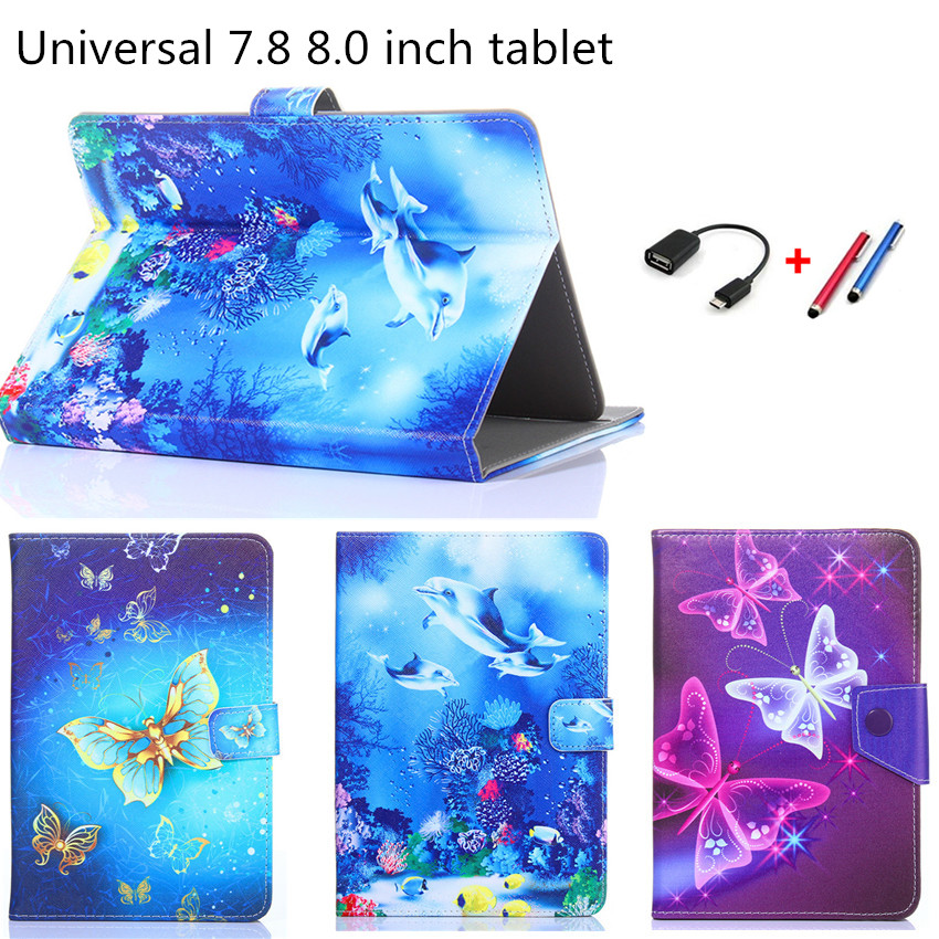 Universal Cover for Prestigio Grace 3118 3318 3G 8 inch Tablet Printed PU Leather Stand Case For Samsung Tab T710/T350/T380 8.0 wenger sport 3118 408