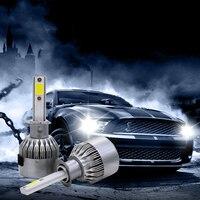 2pcs Lot High Bright 7600LM 72W Car LED Headlight H1 H3 H4 H7 H11 H13 Powerful
