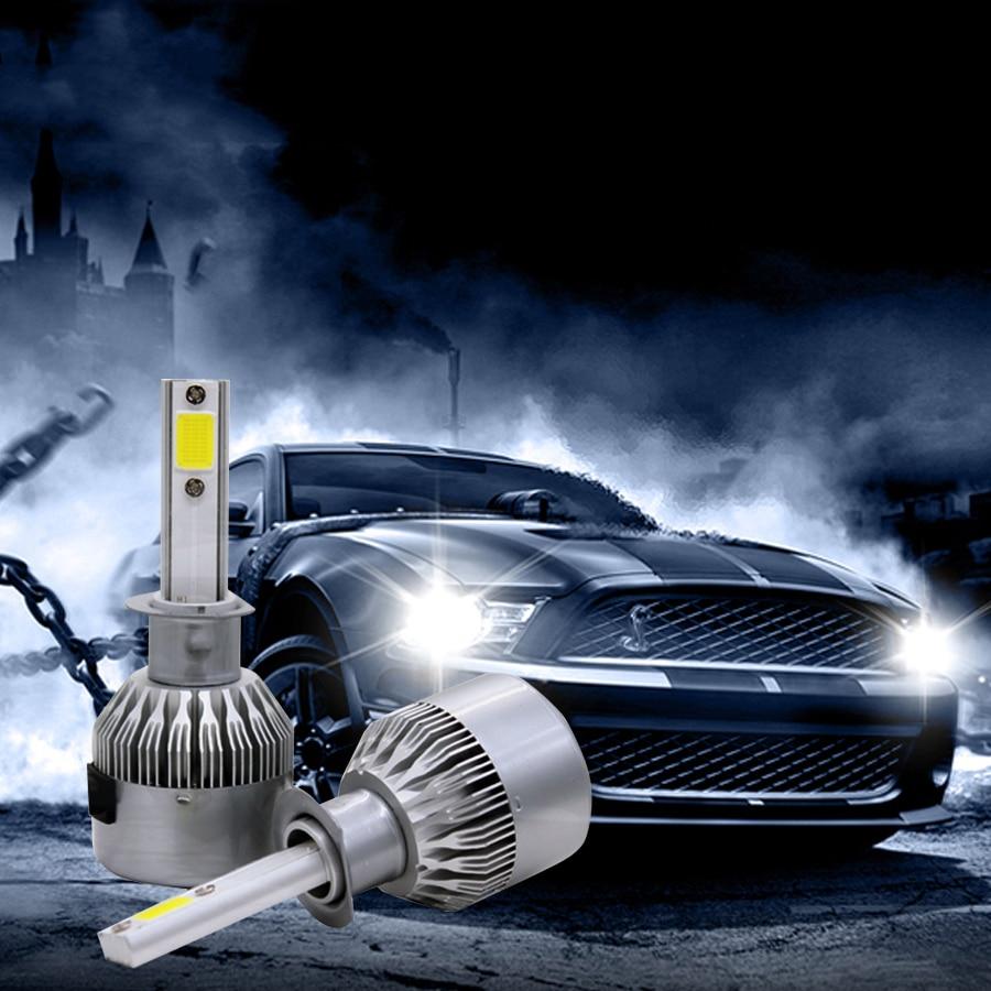 SUNKIA High Bright 7600LM 72W Car LED Faros delanteros H1 H3 H4 H7 - Luces del coche