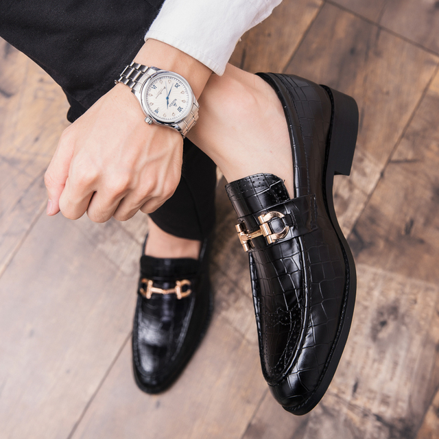 Men's Leather Solid Breathable Slip-On Loafers