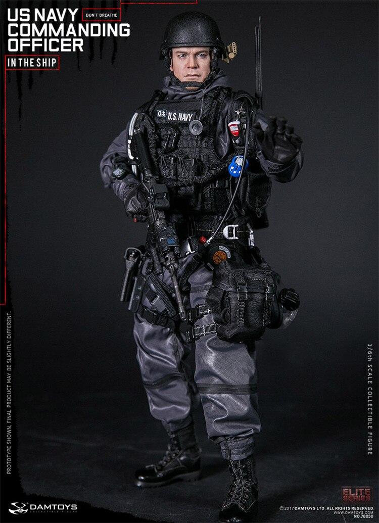 DAM Toys 1/6 US marine commandant soldat Figurine modèle ensemble entier pour Collection Figurine militaire