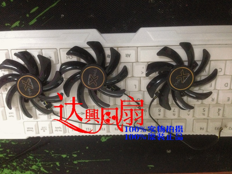 New/Orig For Sapphire R9 390x 290 290x 7790 graphics card cooling fan 3 pcs