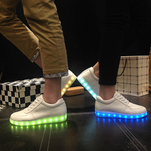 KRIATIV LED Usb shoes Light up Slippers do with Lights Up Led girl shoes tenis Kids Basket Luminous Sneakers Glowing shoe infant