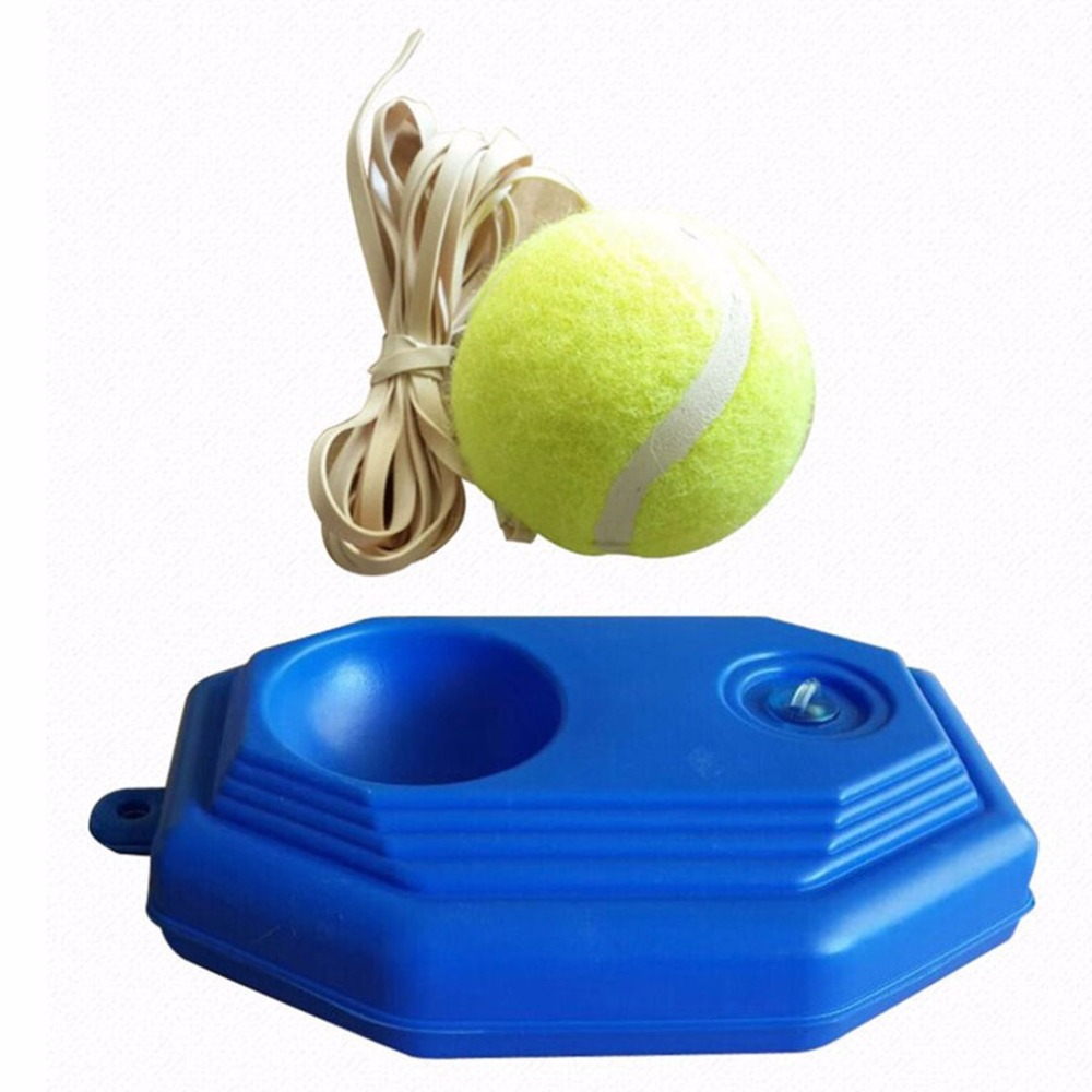 PTOTOP Portable Size Rebound Tennis Trainer Self-study Set Practical Tennis Beginner Training Aids Practice Partner Equipment