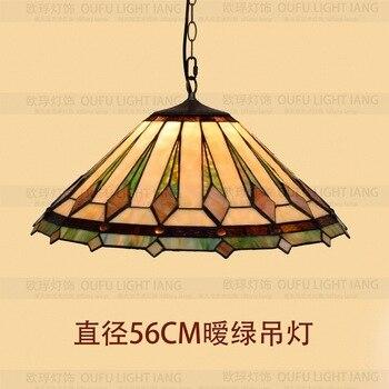 Średnica 56 CM Vintage tiffany sztuki szkła wisiorek światła bar jadalnia zawieszone oprawy E27 110-240 V