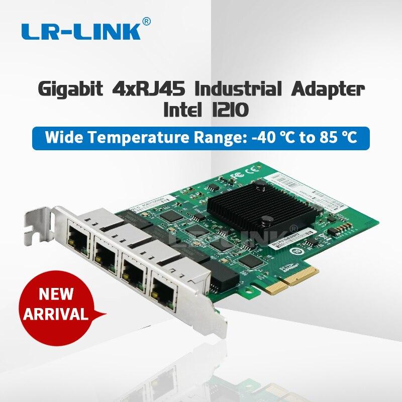 LR-LINK 3004PT Gigabit Ethernet Wide Temperature Industrial Adapter 4XRJ45 Port 10/100/1000M PCI-Express Network Card Intel I210