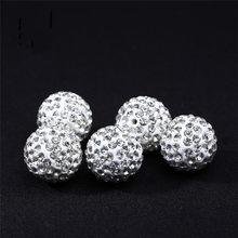 edb5adda5a60 REGELIN alta calidad 50 unids lote de perlas de moda pavimenta cuentas de  cristal Bola de discoteca para DIY pendientes de pulse.
