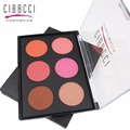 CIBBCCI 6 Colors Blusher Bronzer Highlighter Pressed Powder Contour Makeup Blush Palette Make Up Face Shading Powder