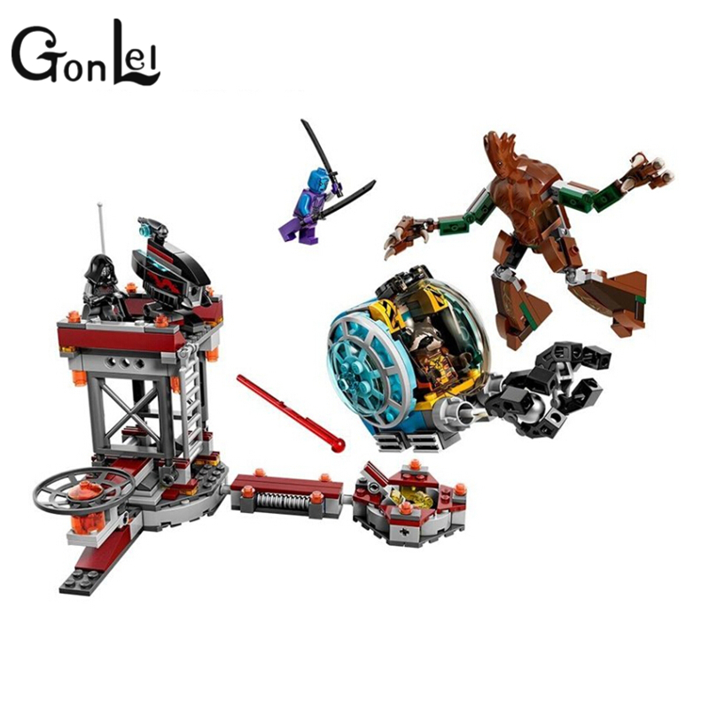 GonLeI Bela 10249 marvel avengers super heroes Guardians of the Galaxy Knowhere Escape Mission Building bricks Toys