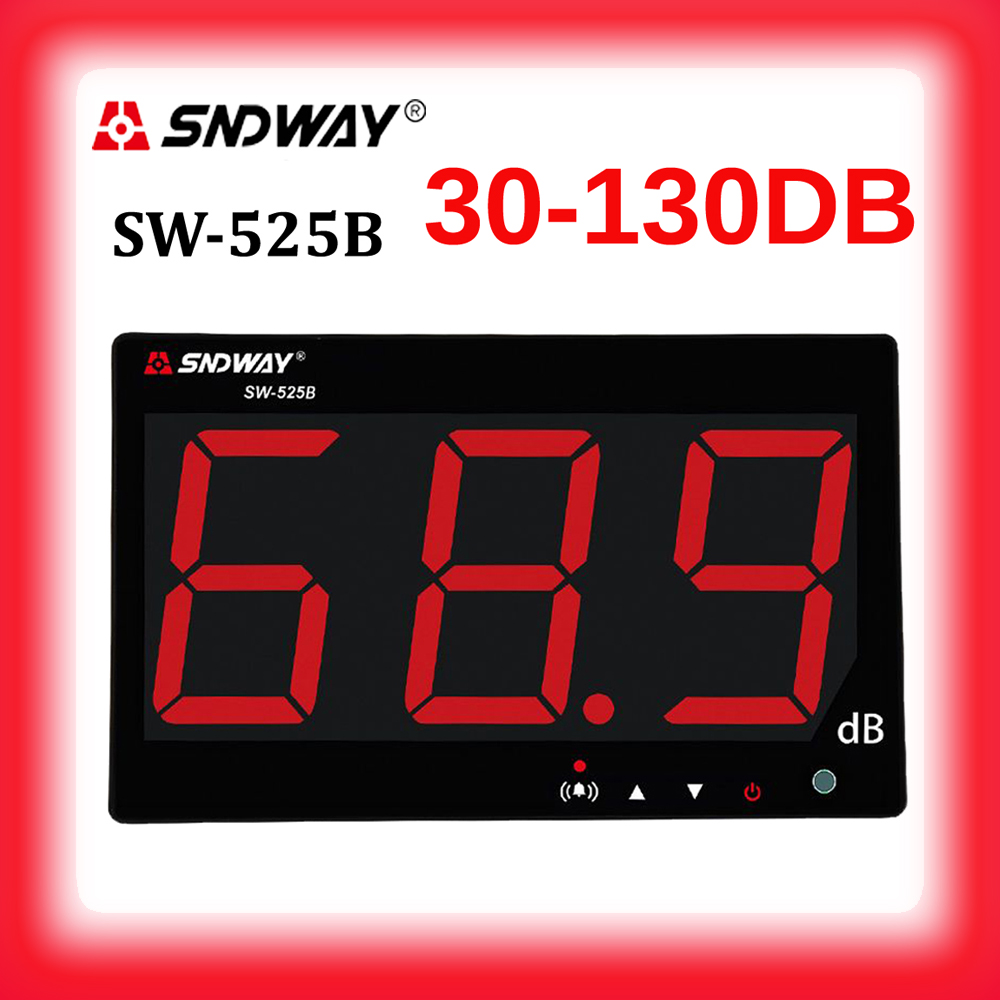 SNDWAY 30-130db sound level meters metro digital sound table data to PC via USB Wall hanging type audio level decibel meter tool цена