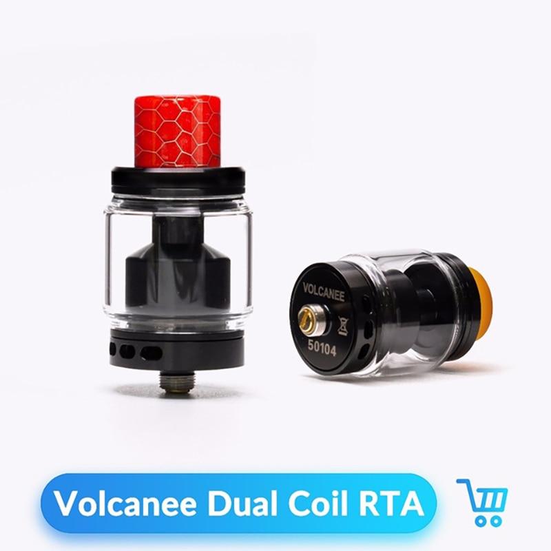 Volcanee Dual Coil RTA Tank Atomizer 24mm Diameter 5ml Capacity Vaper For 510 Thread Electronic Cigarette Box Mod Vape RTA Tank