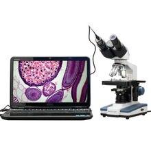 AmScope 40X-2500X светодиодный цифровой бинокль микроскоп соединение, 3D этапе 5MP Камера