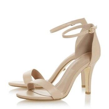 LOSLANDIFEN Multicolour Open Toe Ankle Strap Women Sandals High Heels Ladies Shoes Buckle 9cm Mid Heel Summer Sandals Plus Size