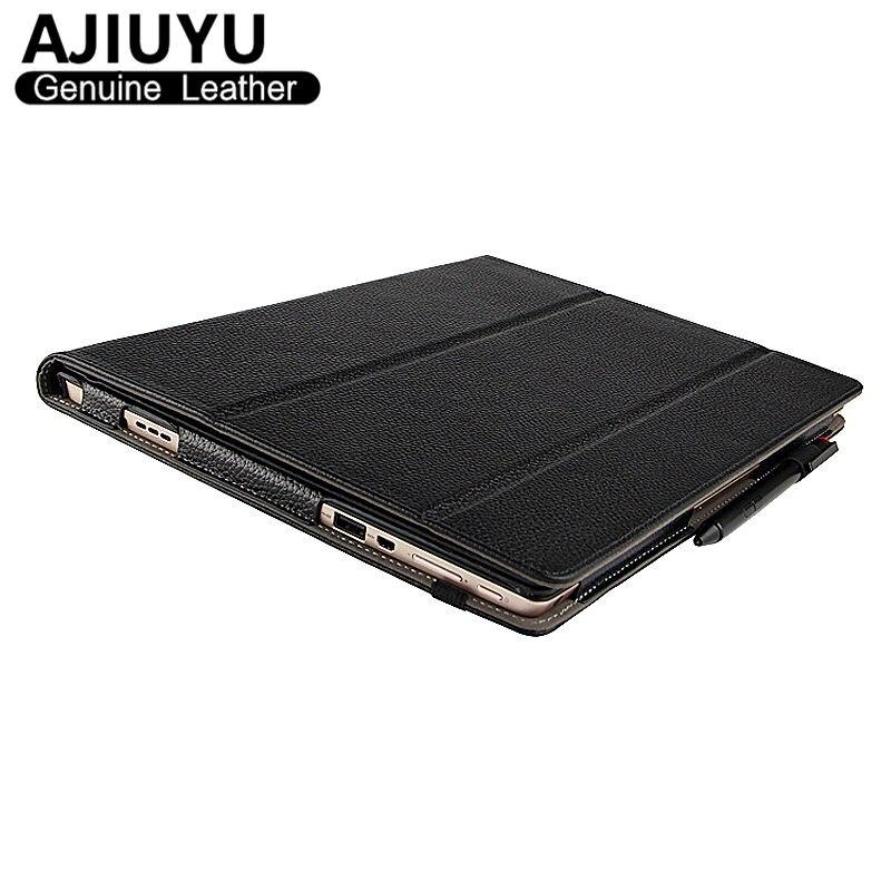 Пояса из натуральной кожи для Lenovo MIIX 510 чехол IdeaPad MiiX 5 защитную обложку Smart Cover Планшеты miix5 протектор miix510 рукавом из воловьей кожи