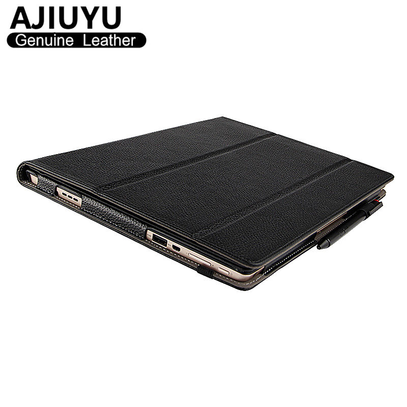 Genuine Leather For Lenovo Miix 510 Case Ideapad MIIX 5 Protective Smart Cover Tablet Miix5 Protector MIIX510 Sleeve Cowhide case sleeve for lenovo ideapad miix 310 320 miix310 miix320 miix325 miix210 10 1inch tablet protective cover pu leather pouch