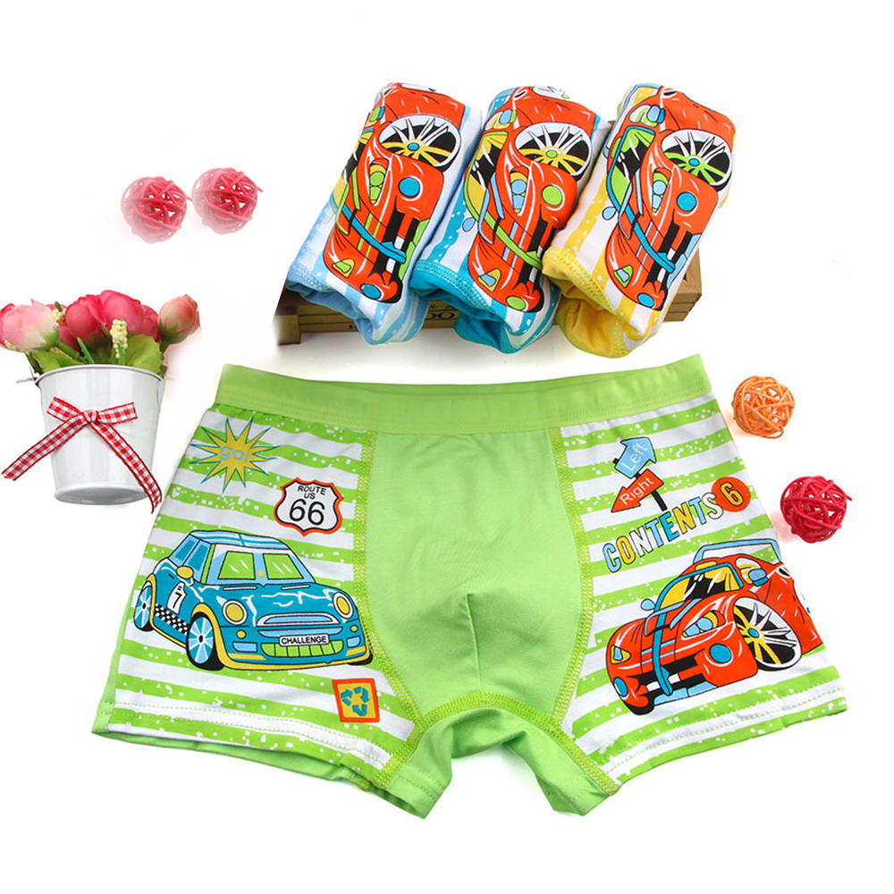 weLaken 4 Pcs/lot Cartoon Boys Underwear Soft Breathable Kids Boxer For 2-10Yrs Baby Panties Kawaii Panty Briefs Underpants 1