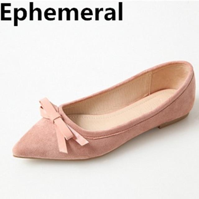 8272696d3 Borboleta-nó das mulheres Bowtie Ballet Flats Bonito Sapatos Sapatos Dedo  Apontado plus Size 17