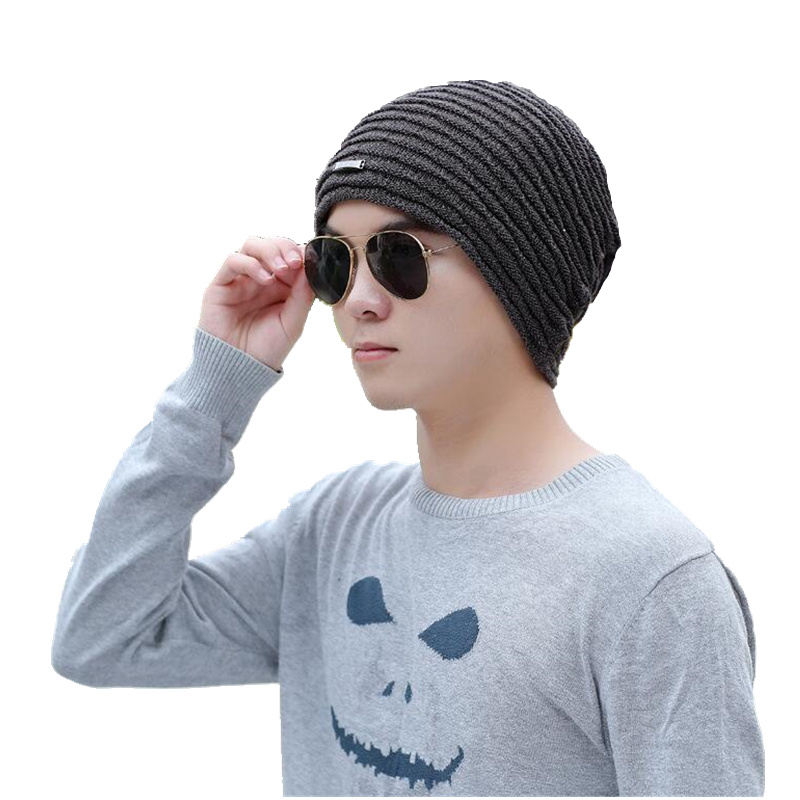 2017 Winter Men's Skullies Gorro Brand Beanie Plus Velvet Hip-hop Hat Knitted Caps Boy Hats Beanies For Men Bonnet Touca Inverno hip hop beanie hat baggy unisex cap thick warm knitted hats for women men bonnet homme femme winter cap plus velvet beanies