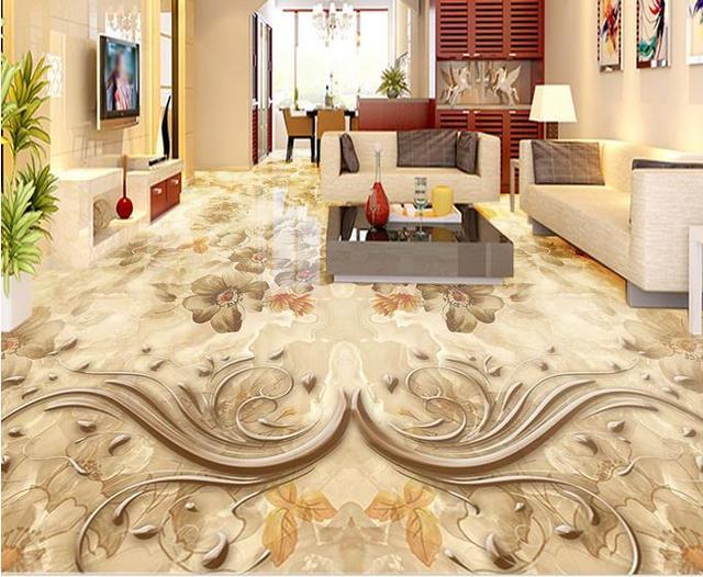3d Bodenbelag Wandbild Tapete Weiss Benutzerdefinierte 3d Boden