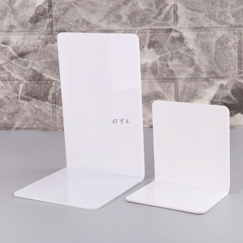 2Pcs White Acrylic Bookends L-shaped Desk Organizer Desktop Book Holder School Stationery Office Accessories2Pcs White Acrylic Bookends L-shaped Desk Organizer Desktop Book Holder School Stationery Office Accessories