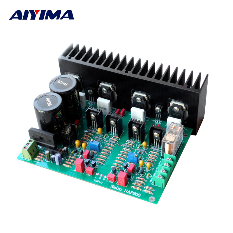 AIYIMA Amplifiers Audio Board Amplificador DIY Kits NAP 200 Line Power Amplifier Board Spare Parts inverter spare parts 800 series low power communication board rasi 01c