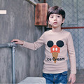 2016 Ice cream print boys clothes neutral knitting T-shirt printing heavy long sleeved free shipping