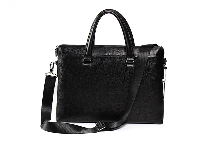 Genuine Leather Cow Skin Men Briefcase Business Laptop Handbag