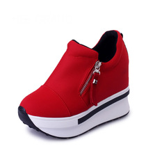 New Fashion Wedges Women Platform Shoes Woman Creepers Slip On Ankle Casual Women Shoes