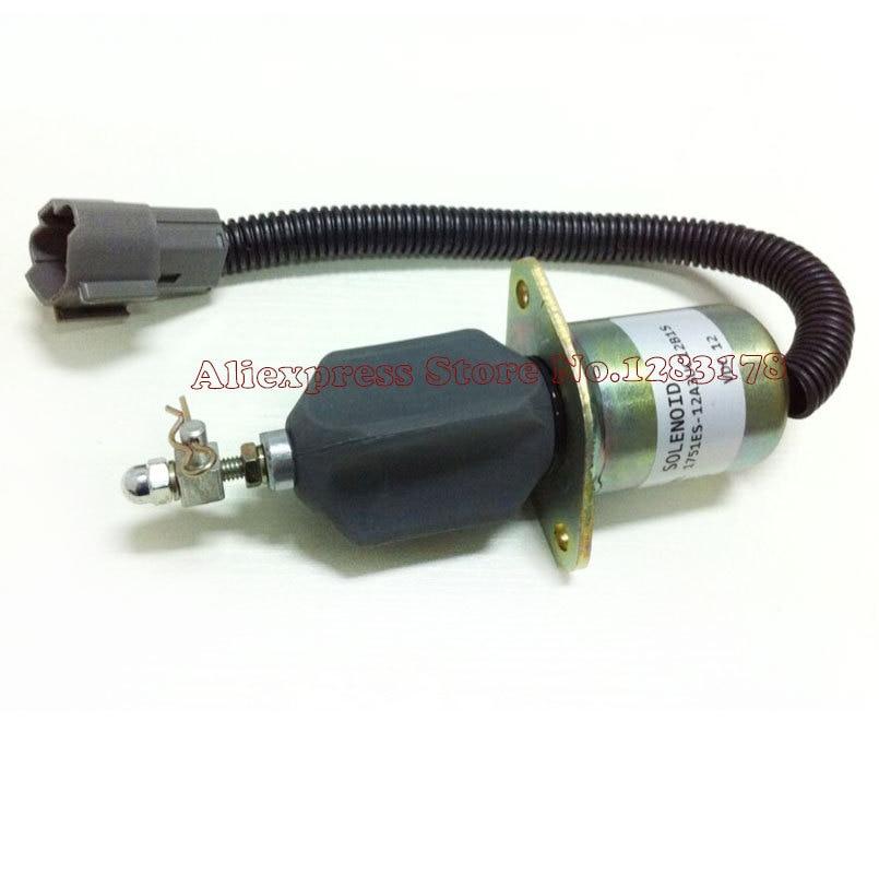 desligamento de combustivel solenoide 1751es 12a3uc12b1s escavadeira hyundai r60 5 para yanmar motor rapido frete gratis