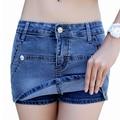 Denim Shorts Skirts Jeans Blue Summer Hot Shorts Women'S Sexy Slim Hip Blue Shorts Fashion Short Femme 2016