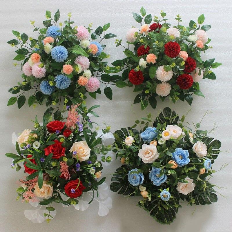 Flone 2 pcs/lot artificielle mariage route plomb soie fleurs T scène décoration fleur faux fleurs mariage mur arche décoration Art
