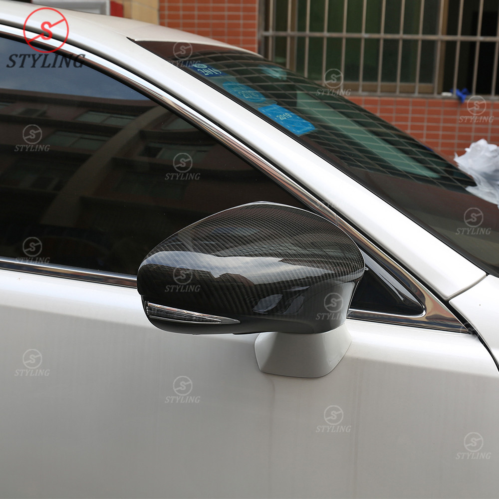 Dry Carbon Fiber Side Mirror Cover Rear-view Caps for Lexus ES IS LS CT GS RC F